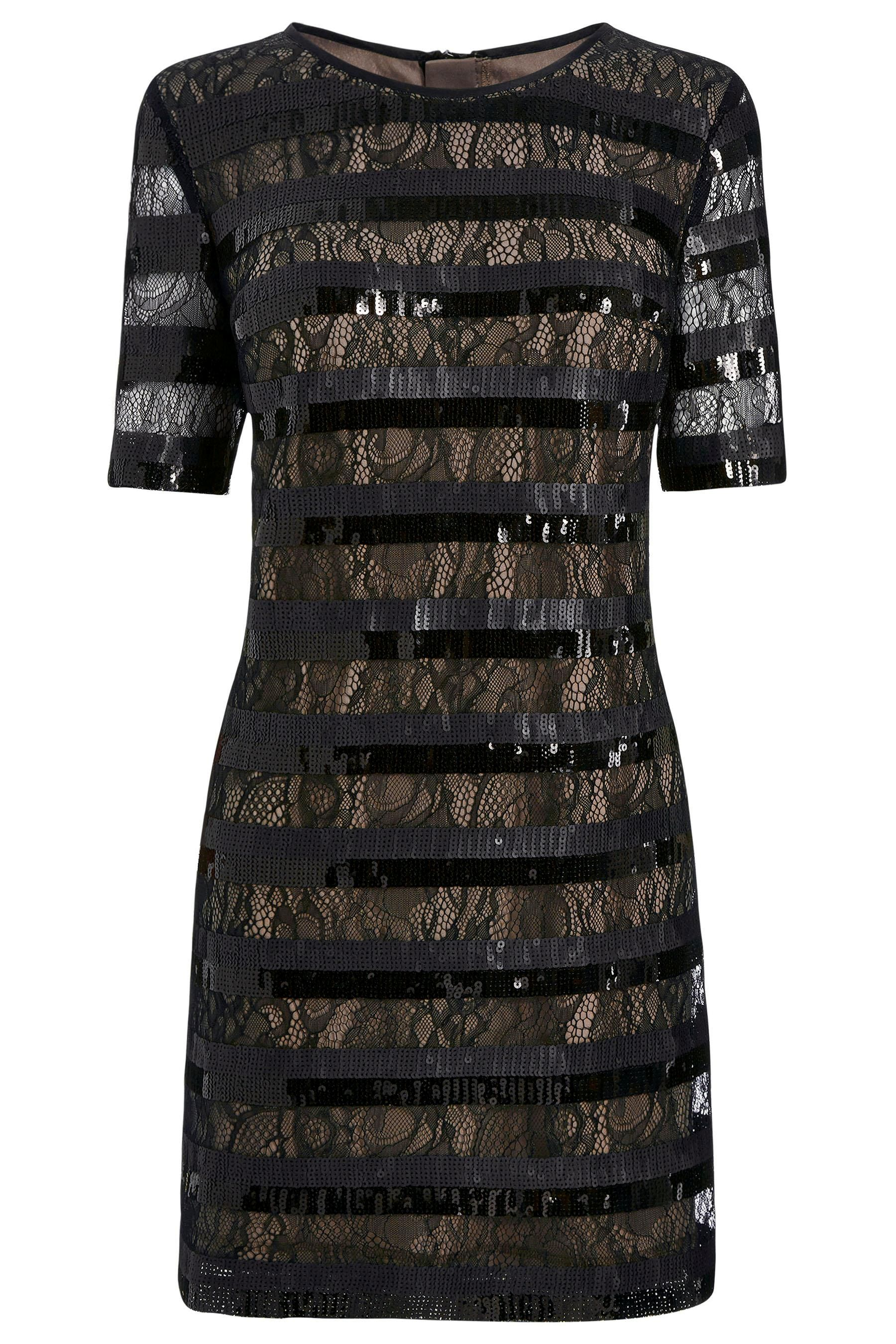 Black dress next - Stripe Sequin Dress By Next