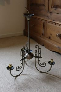Art Deco light as it was when I bought it.