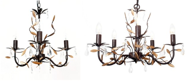Bronze & Gold Ashford Chandeliers by Dunelm