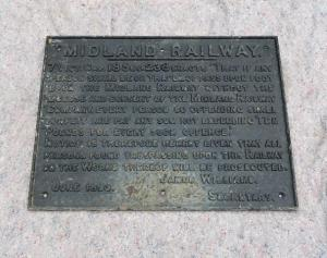 Larger railway sign