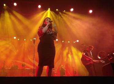 Caro on stage