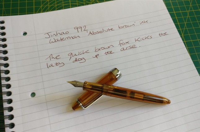 Jinhao 992 in transparent brown